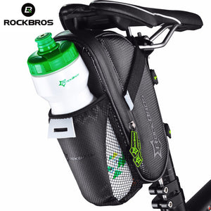 Waterproof Bicycle Saddlebag, with Water Bottle Pocket, to Mount Behind the Seat