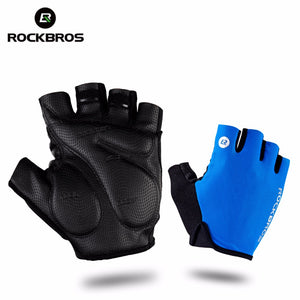 Shockproof, Breathable Half Finger Bicycle Gloves for MTB and Road Cycling