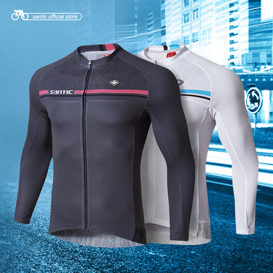 Men's Long Sleeve Cycling Jersey, Pro Fit for Road or MTB Cycling