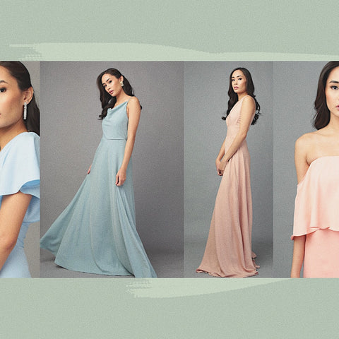 Our new collection features 6 new crepe gowns.