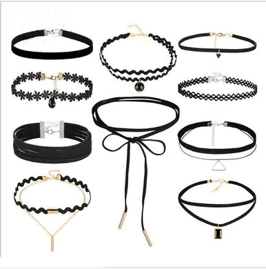 1 Set (10pcs) New Gothic Choker Necklaces