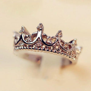 Queen's Silver Crown Rings