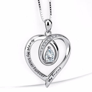 Always My Sister Forever - Crystal Necklace - Best Gifts for Friend!