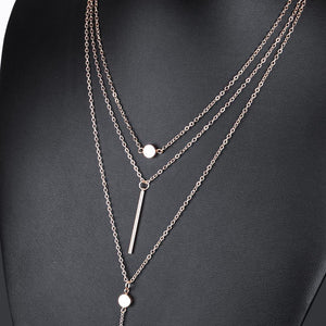 3 Multi Layer UYV Necklace