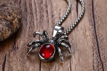 Red Spiderling Necklace