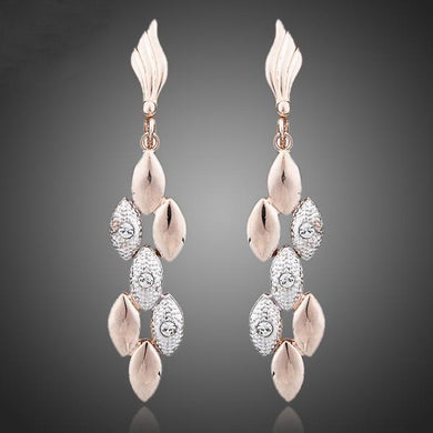 Two Tone Rhinestones Earring