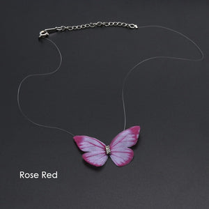 Colorful 3D Butterfly - Invisible Necklace
