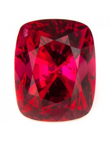 Faceted Cushion Cut Red Spinel Gemstone August Birthstone Jewelry