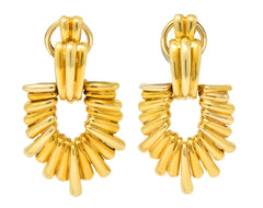 Aldo Cipullo Cartier Vintage 18 Karat Gold Door Knocker Ear-Clip Earring 1970's