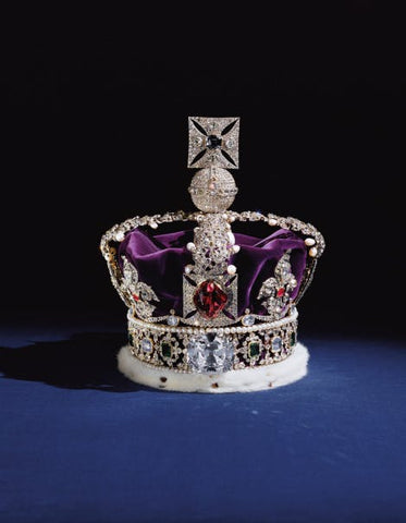 Black Prince Ruby Imperial State Crown Royal Jewelry