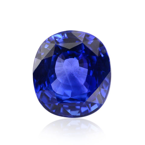 Kashmir Faceted Oval Cut Sapphire Gemstone September Birthstone