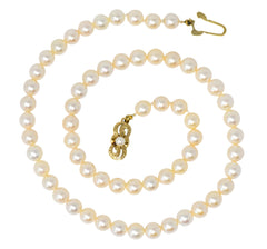 Mikimoto Contemporary Cultured Pearl 14 Karat Gold Necklace