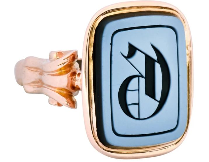 Philadelphia Estate Jewelry Quartz Intaglio Signet Rings