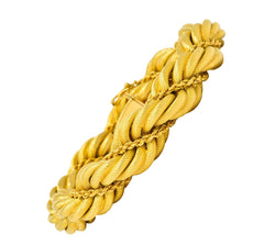 Tiffany & Co. Vintage 18 Karat Gold Large Twisted Rope Bracelet Circa 1970
