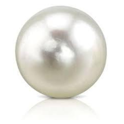 Round Natural Pearl Organic Gemstone White Body Color Silver Overtones