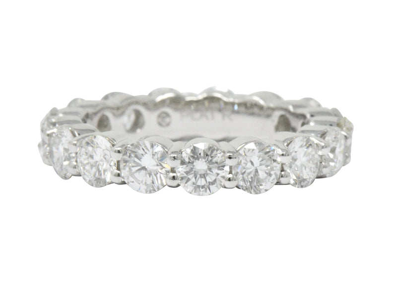 3.56 CTW Diamond Platinum Eternity Band Stackable Ring - Wilson's Estate Jewelry