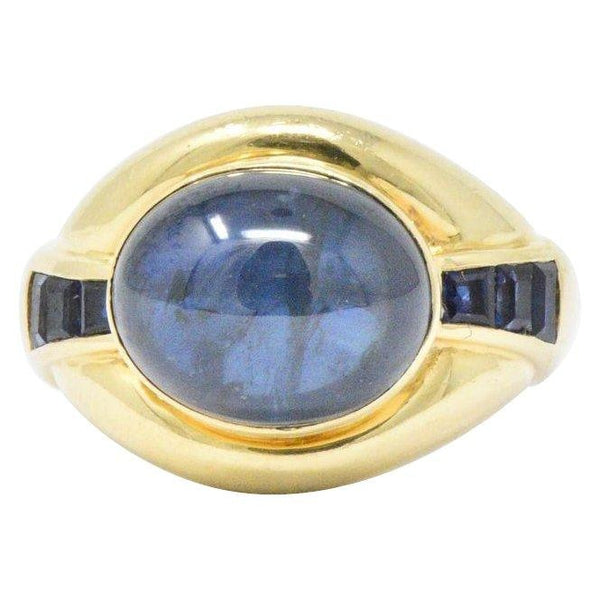 8.00CTS Sapphire & 18K Gold Vintage Ring - Wilson's Estate Jewelry