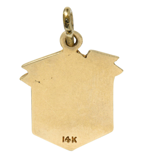 1923 Early Art Deco 14 Karat Gold Dorfman Box Charm