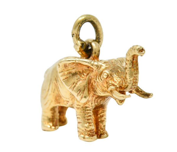 Sloan & Co. Retro 14 Karat Gold Elephant Charm