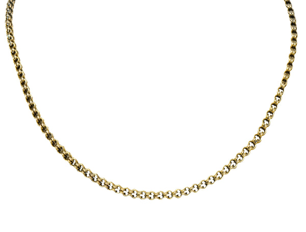 Victorian 10 Karat Gold 17 Inch Chain Necklace