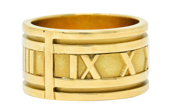 1995 Tiffany & Co. 18 Karat Gold Unisex 12MM Atlas Band Ring