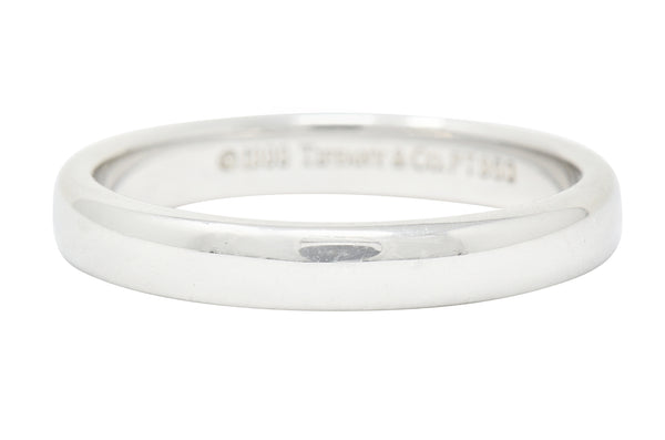 1990's Classic Tiffany & Co. Platinum 3MM Unisex Wedding Band Ring - Wilson's Estate Jewelry