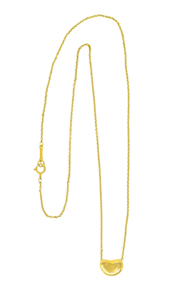 Elsa Peretti Tiffany & Co. 18 Karat Gold Iconic Bean Necklace - Wilson's Estate Jewelry
