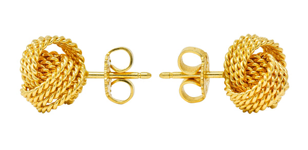 Tiffany & Co. 18 Karat Gold Tiffany Twist Knot Stud Earrings - Wilson's Estate Jewelry