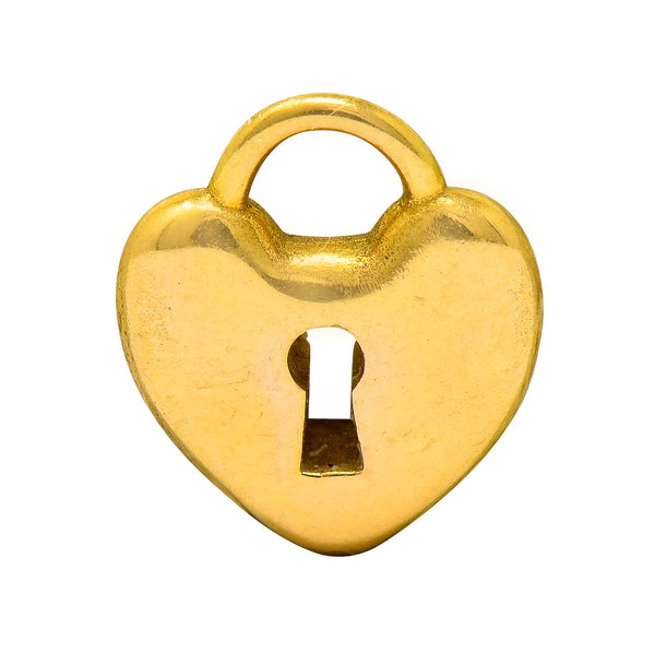 Tiffany & Co. Contemporary 18 Karat Gold Heart Padlock Tiffany Hearts Charm - Wilson's Estate Jewelry