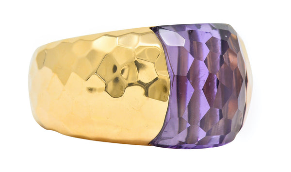 Roberto Coin Amethyst 18 Karat Rose Gold Gemstone Band Ring