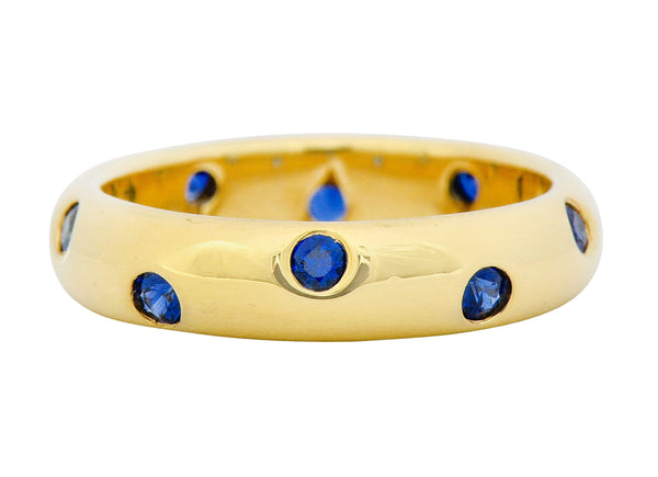 Tiffany & Co. 0.40 CTW Sapphire 18 Karat Gold Etoile Band Ring