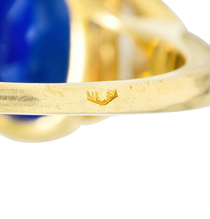 Roberto Coin Smoky Quartz Mother-Of-Pearl 1.45 CTW Diamond Halo Gemstone Ring - Wilson's Estate Jewelry