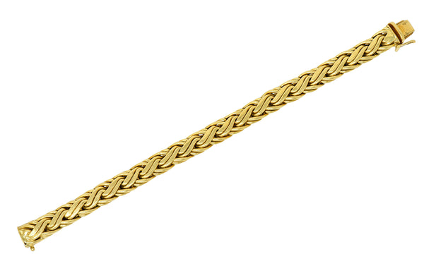 Tiffany & Co. 1980's Vintage 18 Karat Gold Wheat Chain Bracelet