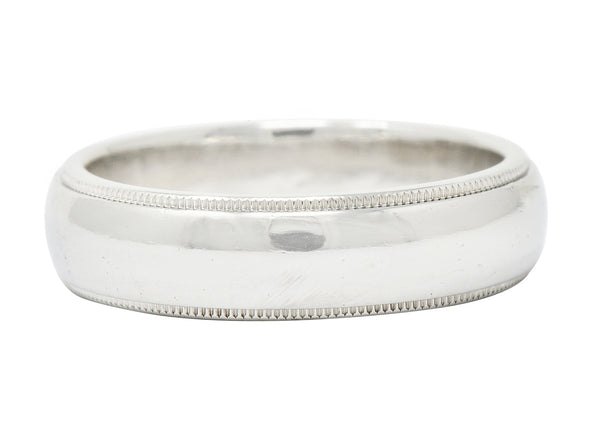 Tiffany & Co. Contemporary Platinum 6MM Men's Wedding Band Ring