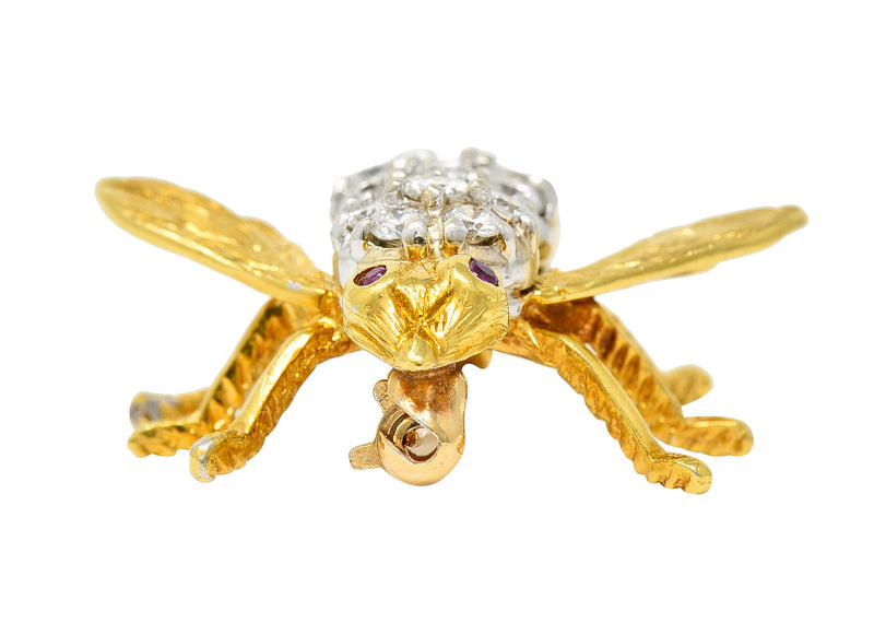 Art Deco 0.55 CTW Diamond 18 Karat White Gold Engagement Ring - Wilson's Estate Jewelry