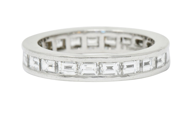 Tiffany & Co. 1.68 CTW Diamond Platinum Channel Eternity Band - Wilson's Estate Jewelry