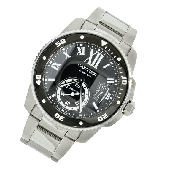 Cartier Calibre de Cartier Diver Stainless Steel Automatic Men's Watch W7100057