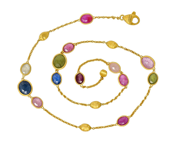 Marco Bicego Sapphire 18 Karat Gold Confetti Necklace