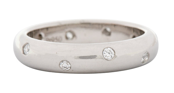 Tiffany & Co. Diamond Platinum Unisex Etoile Band Ring