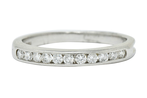 Tiffany & Co. Diamond Platinum Channel Anniversary Band Ring