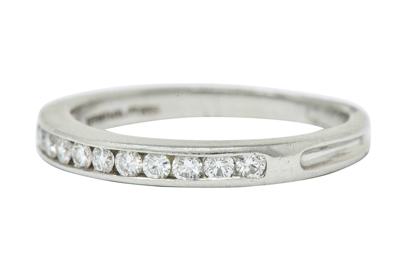 Tiffany & Co. Diamond Platinum Channel Anniversary Band Ring - Wilson's Estate Jewelry