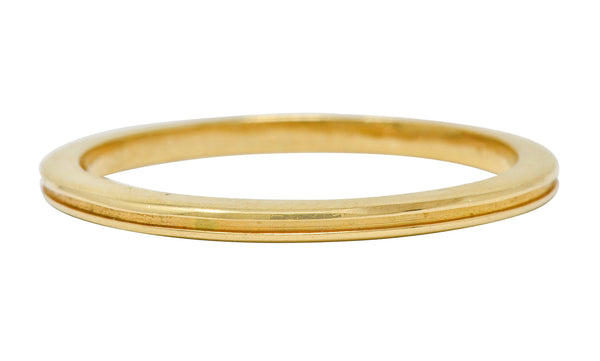 Tiffany & Co. Vintage 18 Karat Gold 1.7MM Stacking Band Ring