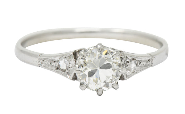 1920's Art Deco 0.66 CTW Diamond Platinum Engagement Ring
