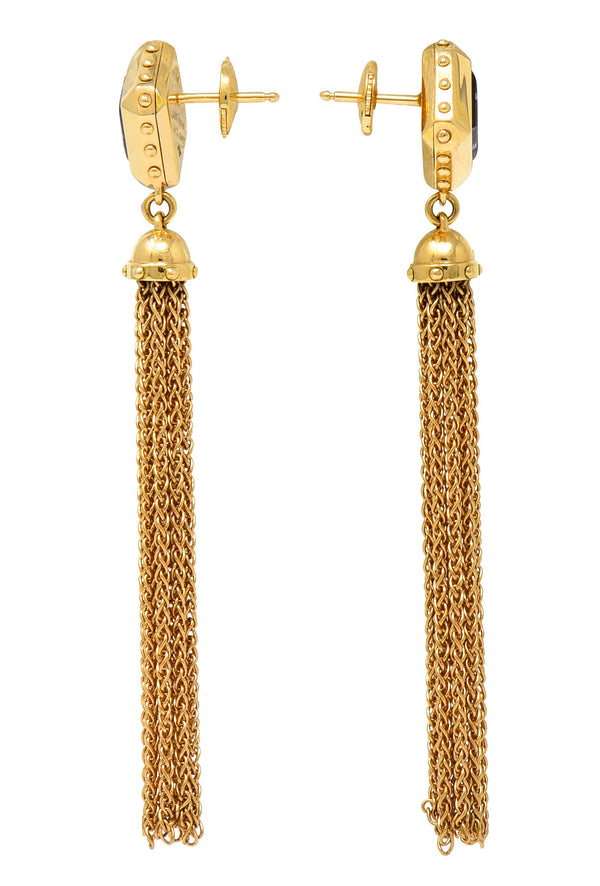 2014 Louis Vuitton Amethyst 18 Karat Gold Emprise Tassel Earrings