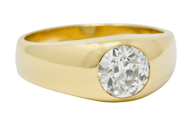 C.D. Peacock 1.75 CTW Old European Cut Diamond 14 Karat Gold Unisex Ring