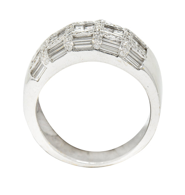 Art Nouveau Opal Ruby Diamond 18 Karat Gold Empress Band Ring - Wilson's Estate Jewelry