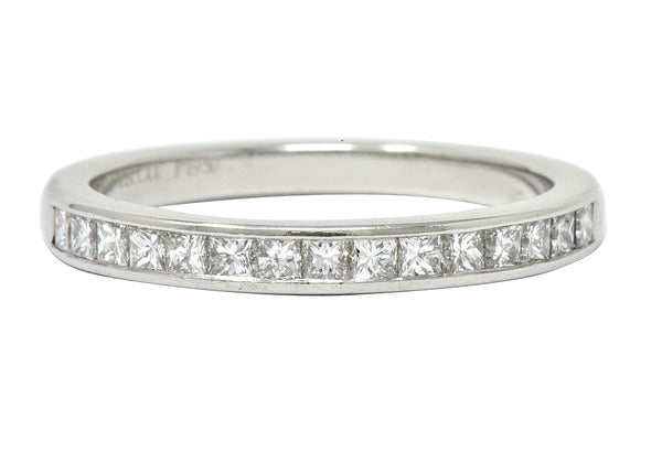Tiffany & Co. Princess Cut Diamond Platinum Channel Band Ring