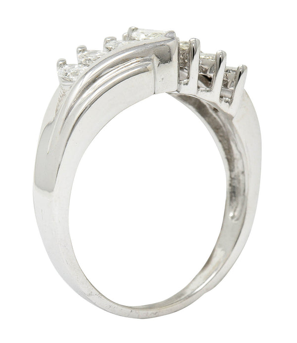 Jaffe Contemporary Diamond 14 Karat White Gold Anniversary Band Ring