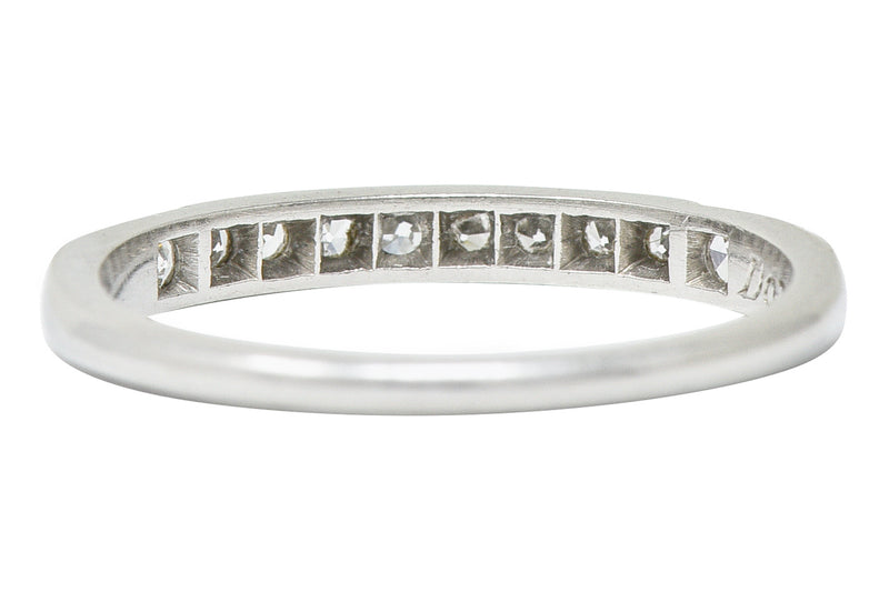 1938 Art Deco Diamond Platinum Anniversary Band Ring