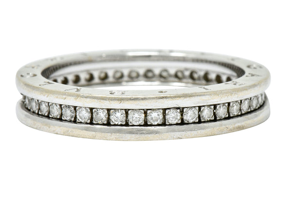 Bulgari 1.20 CTW Diamond 18 Karat White Gold Men's Eternity Band Ring - Wilson's Estate Jewelry